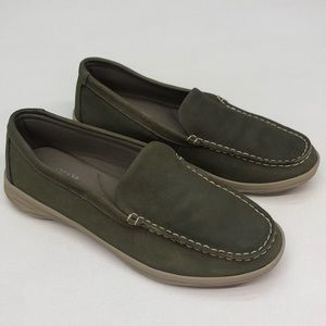 Eastland Ashley Green Leather Loafers 10M